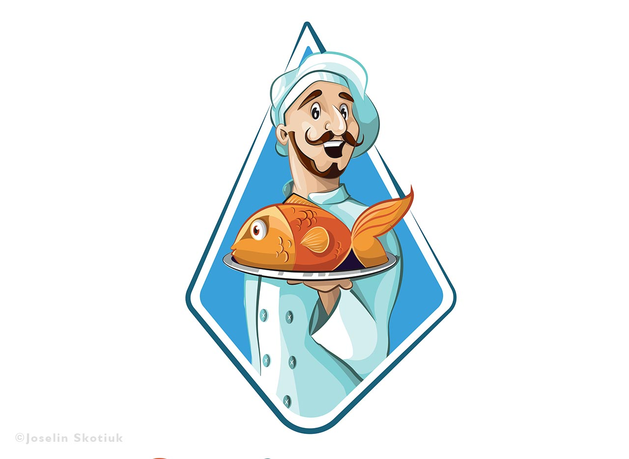 Seafood Restaurant Logo Skotiuk