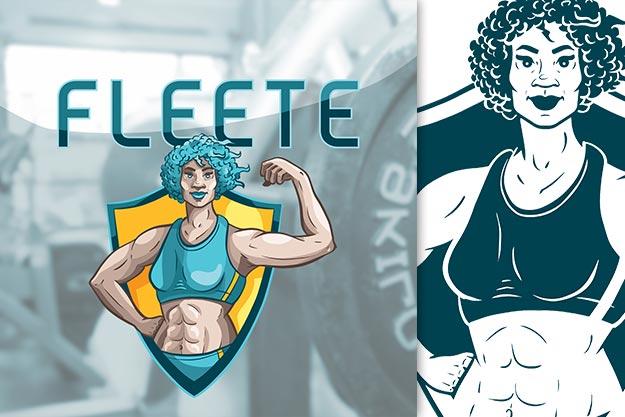 female-athlete-logo-design-one-color