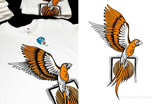 macaw-and-art-tshirt-design-product-design