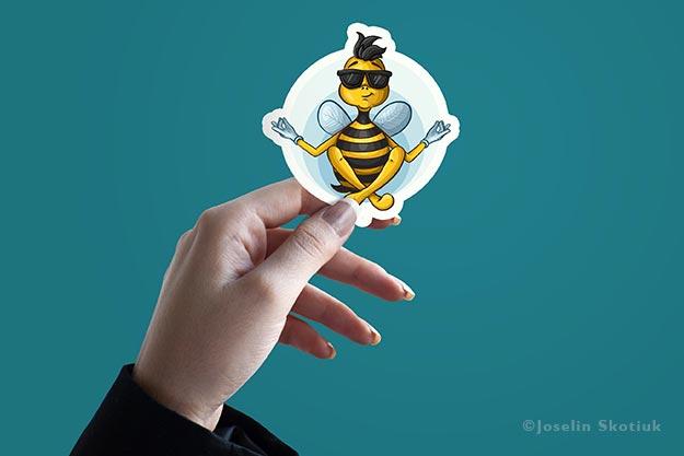 bee-happy-sticker