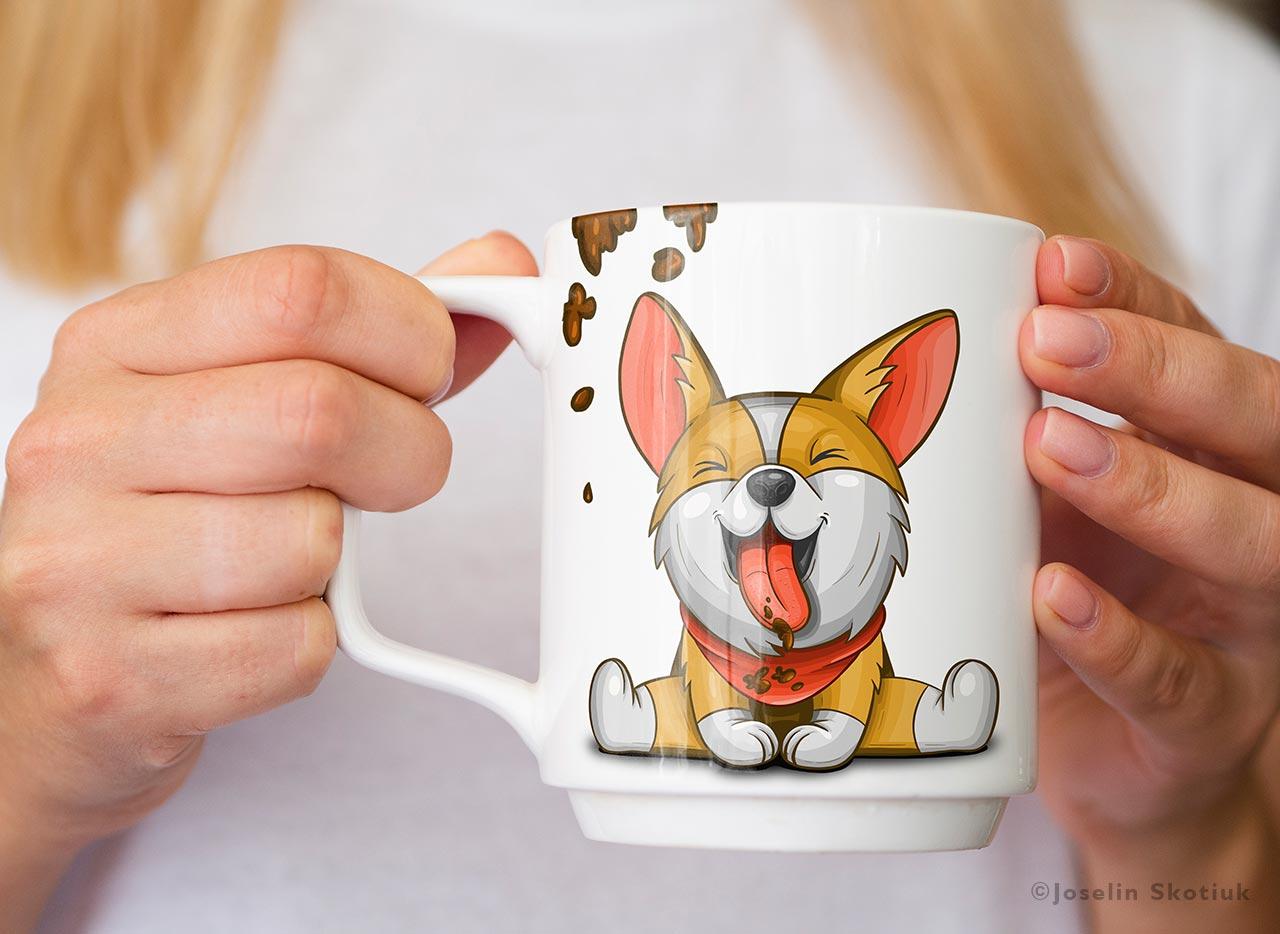 cute-corgi-drinking-coffee
