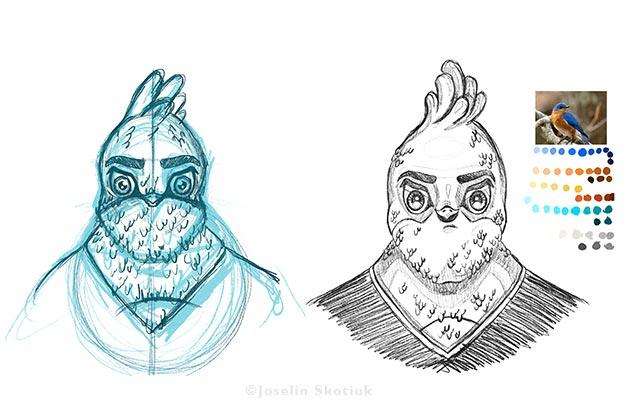 portrait-of-a-unique-bird-sketch