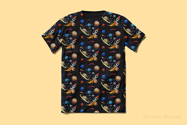 outer-space-pattern-tshirt