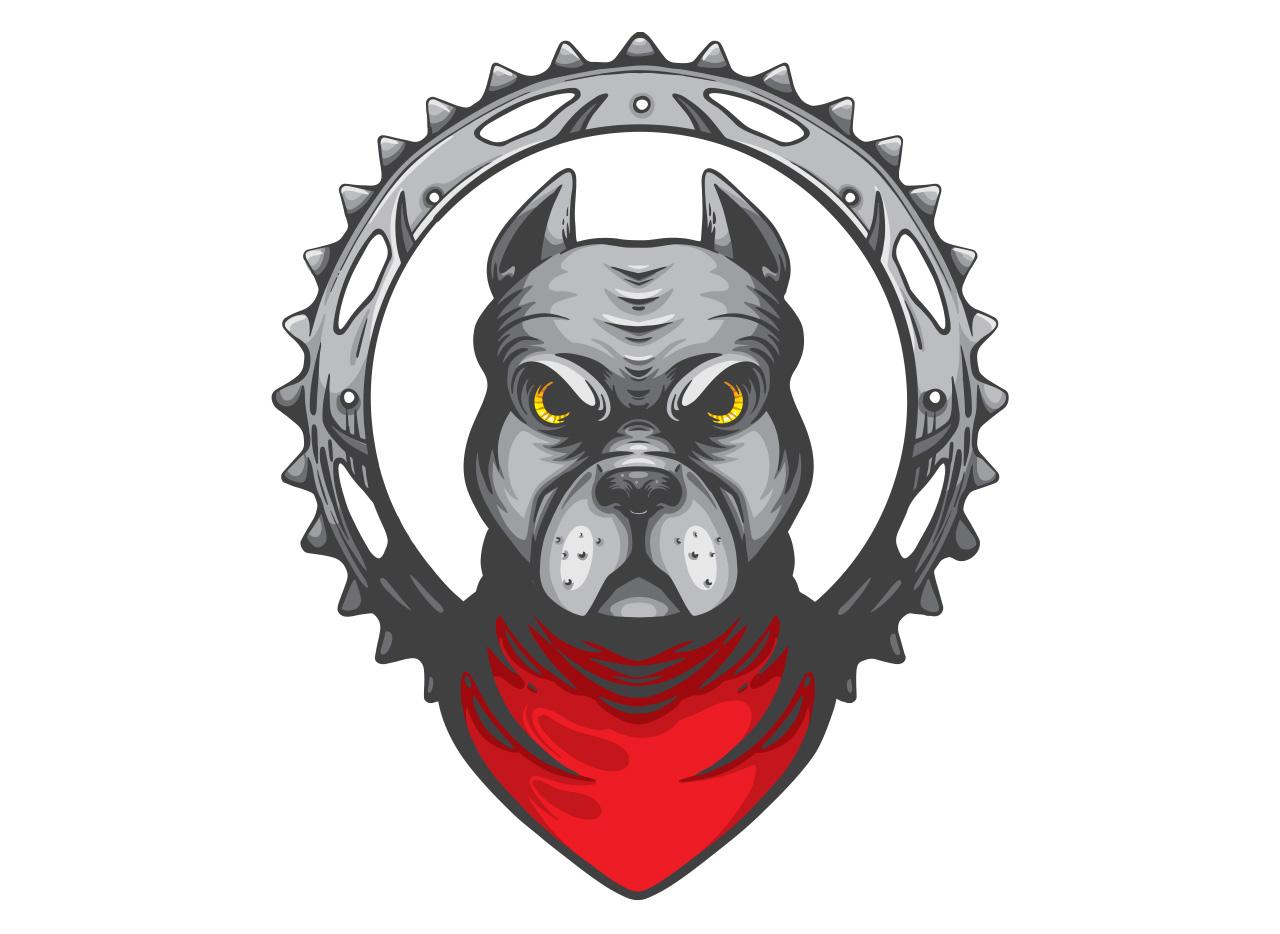 pitbull-dog-mascot-illustration-for-honda-dream-barranquilla